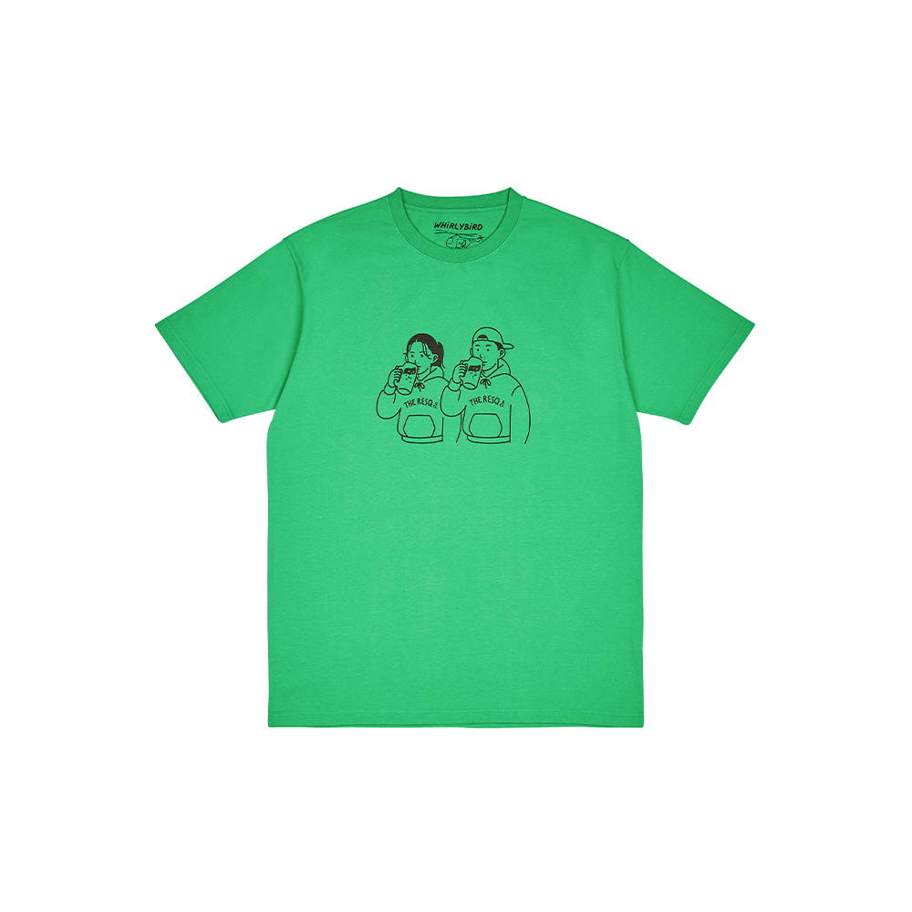 BEER COUPLE TEE [CLOVER GREEN]THE RESQ&Co(더레스큐컴패니)