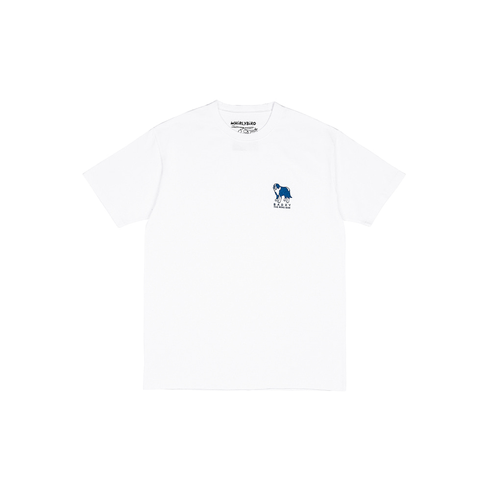 RESQ DOG BARRY TEE [WHITE]THE RESQ&Co(더레스큐컴패니)