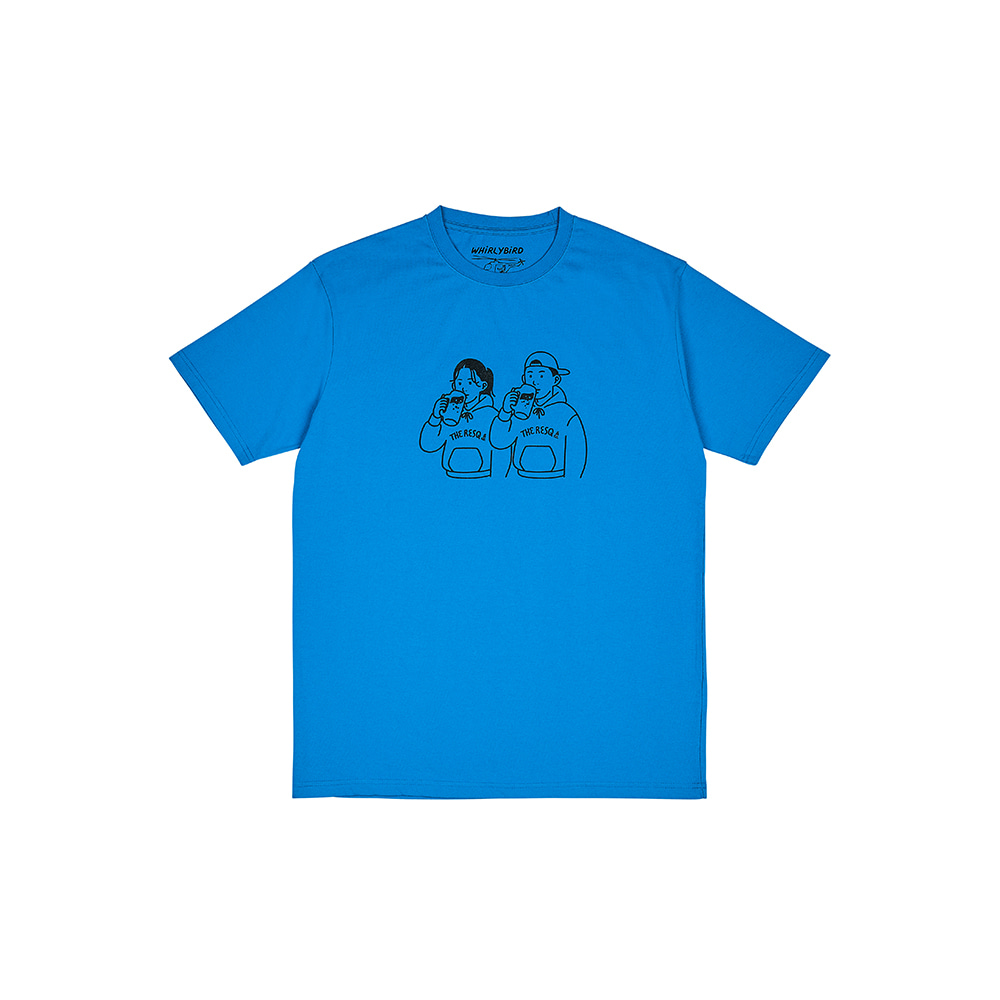 BEER COUPLE TEE [OCEAN BLUE]THE RESQ&Co(더레스큐컴패니)