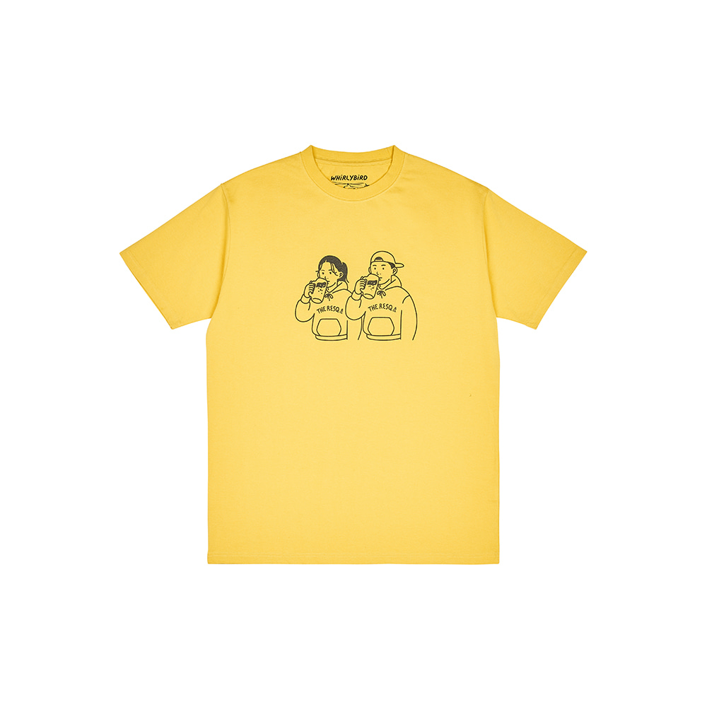BEER COUPLE TEE [CORN YELLOW]THE RESQ&Co(더레스큐컴패니)