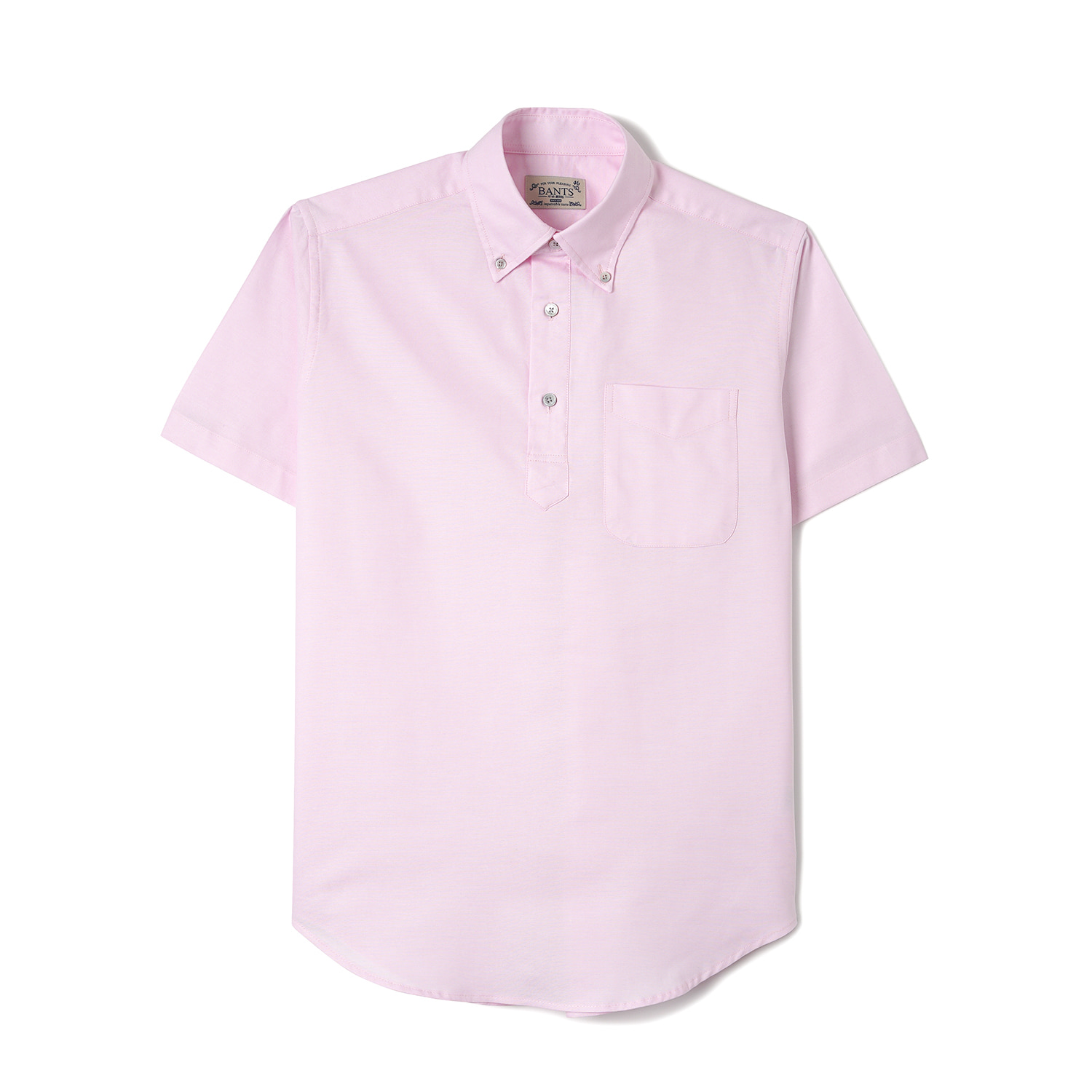 WSK Solid Oxford Pullover B.D Shirt Half - PinkBANTS(반츠)