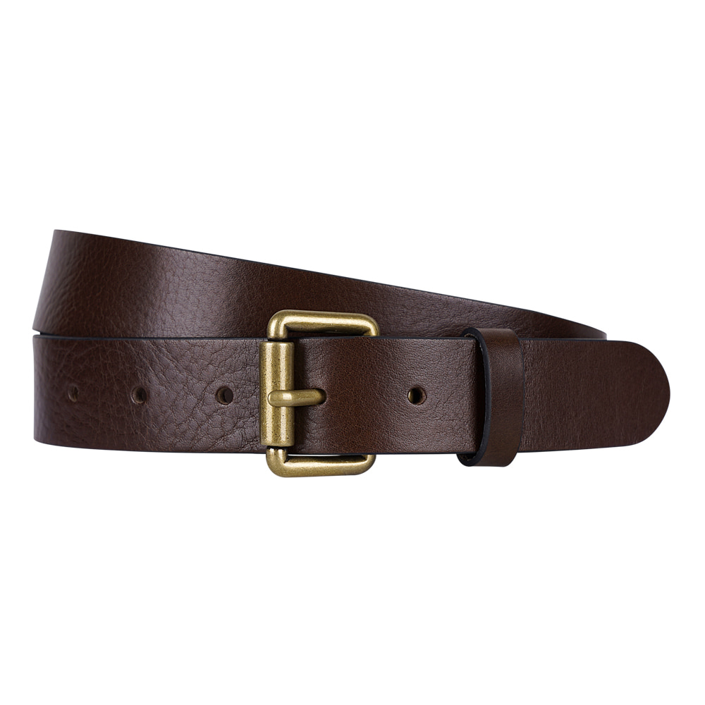BROWN ITALIAN FULL GRAIN LEATHER BELTVictor&Albert(빅터앤알버트)