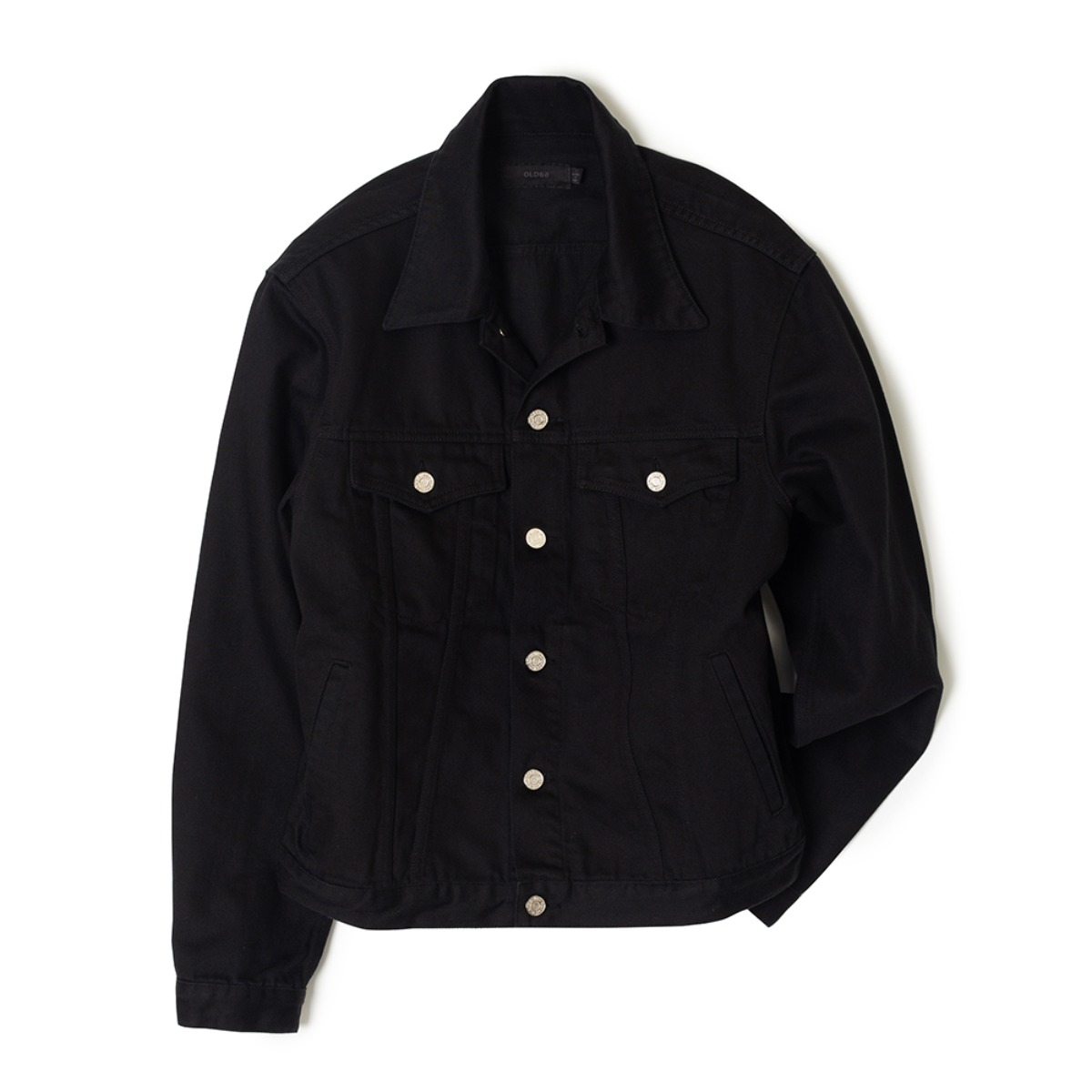 DEEP BLACK DENIM JACKETOLDbe(올드비)