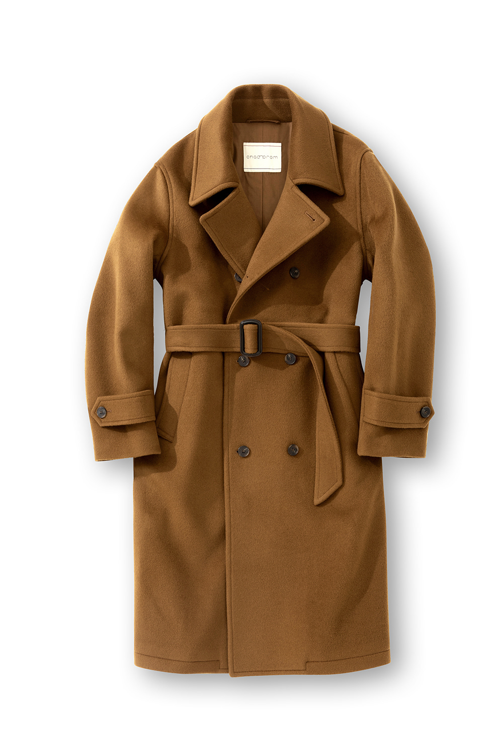 Heavy Wool Double belted coat - Camel CHADPROM(채드프롬)