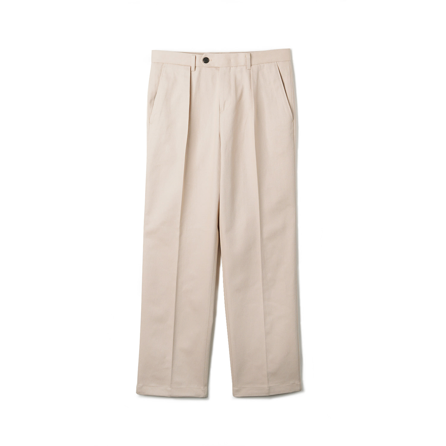OPD Cotton One-Tuck Pants - IvoryBANTS(반츠)