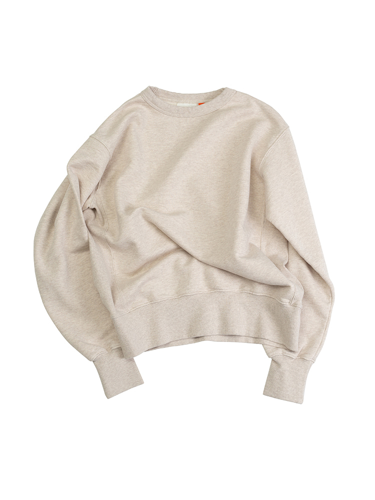 VTG COTTON KNITCREW NECK WASHED SWEATSHIRTOATMEALOLDBē(올드비)