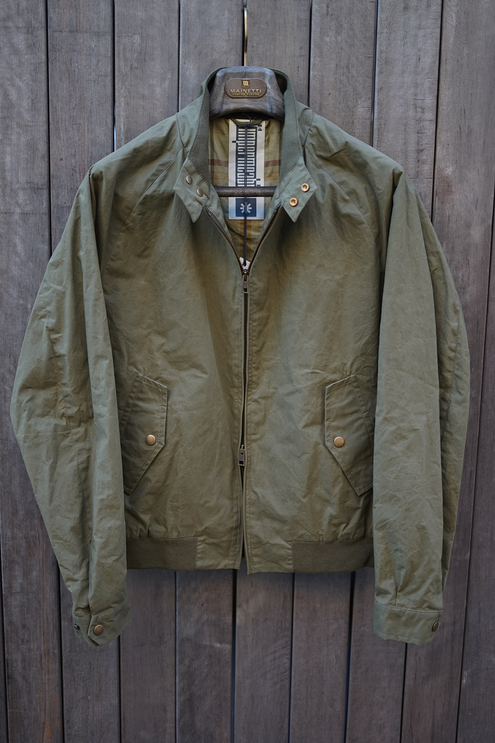 Furio wax cotton jacket OliveLimpermeabile(임페르미아빌레)입점기념 세일
