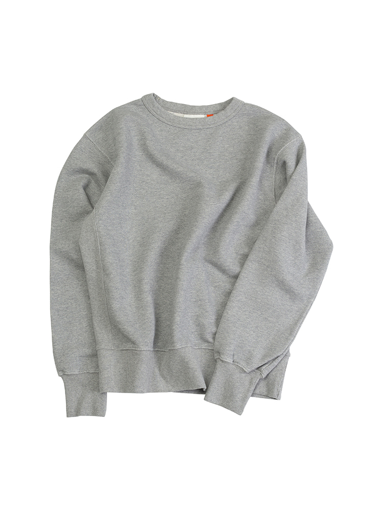 VTG COTTON KNITCREW NECK WASHED SWEATSHIRTMELANGE GRAYOLDBē(올드비)