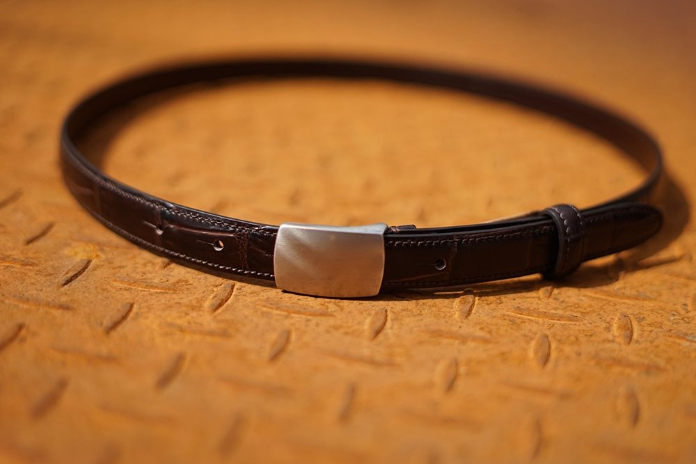 GENUINE LEATHER Plaque belt BrownSANTA TRINITA산타 트리니타