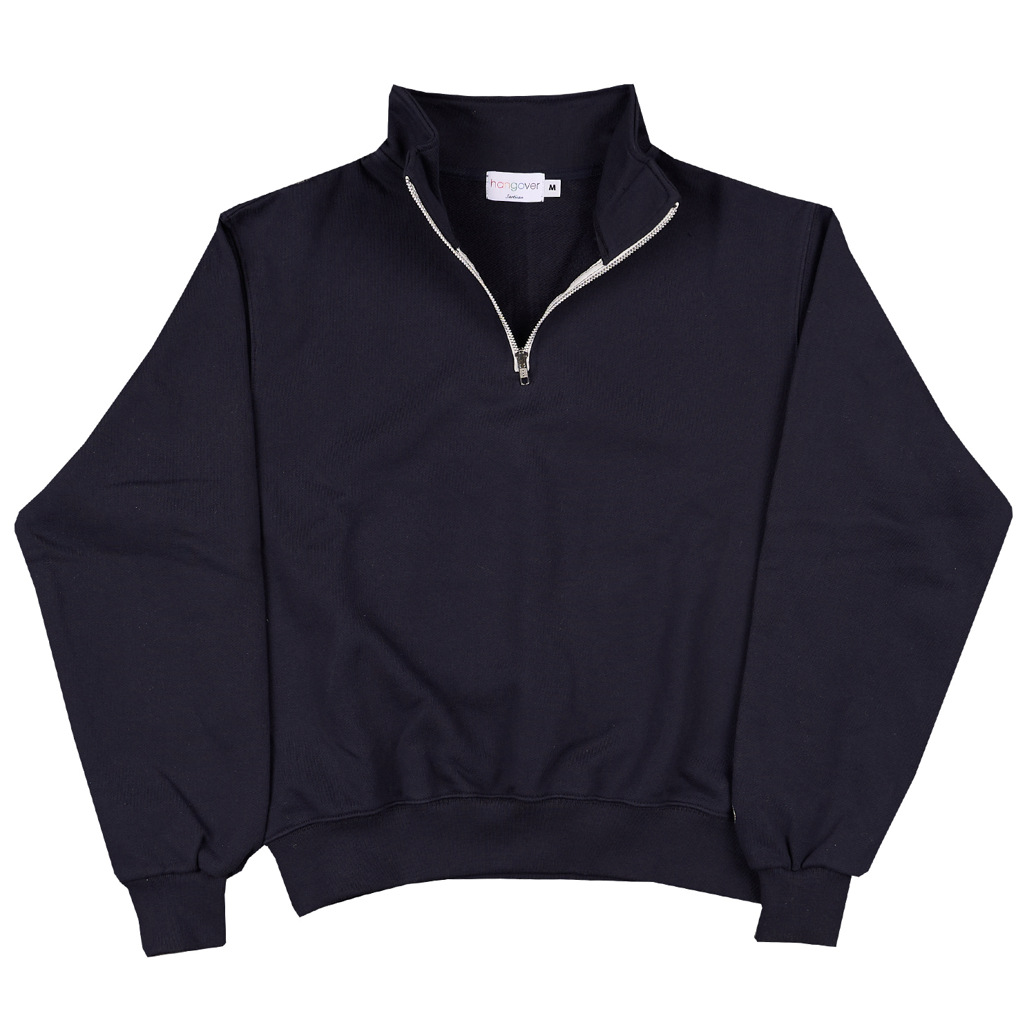 HALF ZIP-UP SWEATSHIRTS_NAVYHangover(행오버)