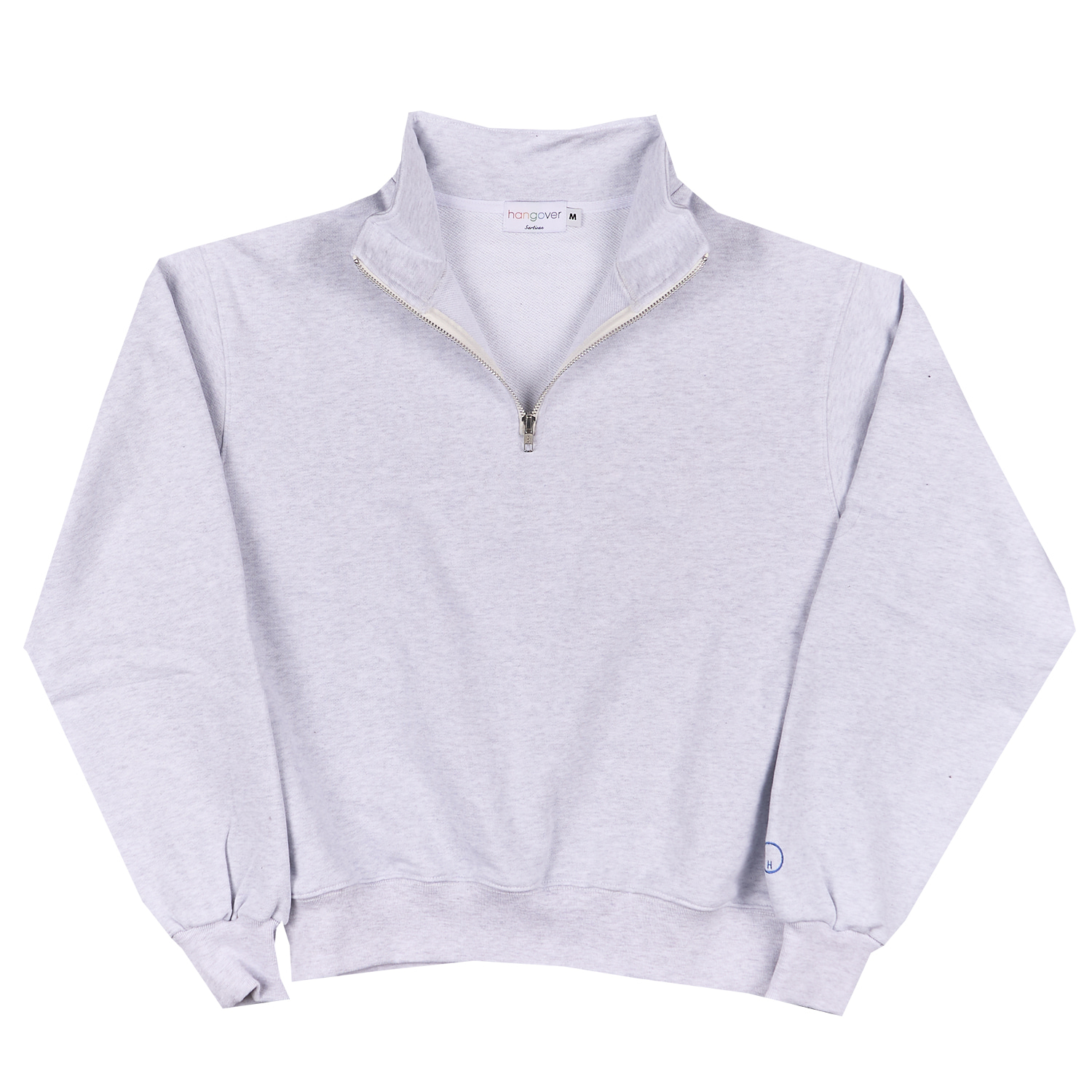 HALF ZIP-UP SWEATSHIRTS_LIGHT GRAYHangover(행오버)