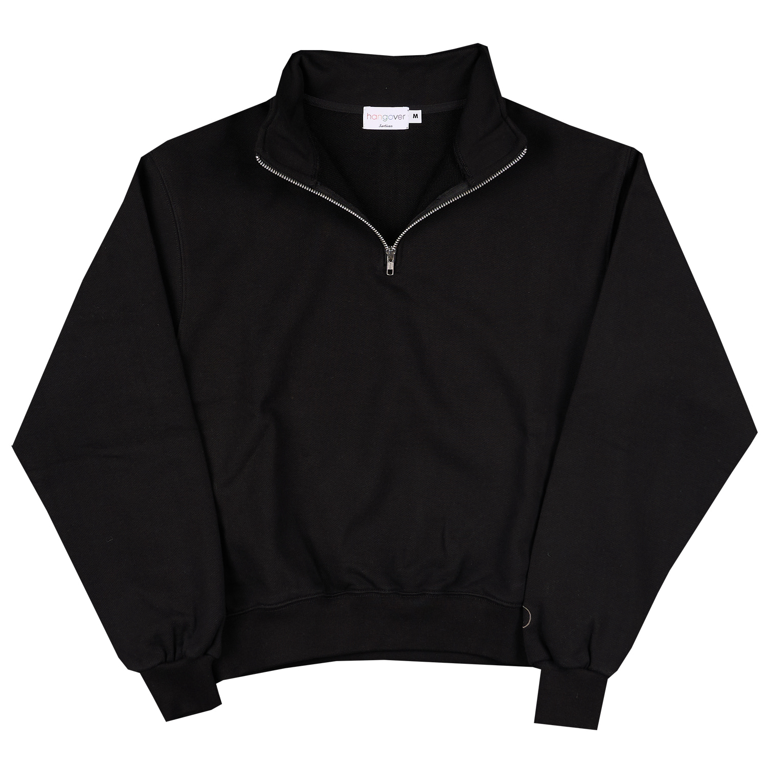 HALF ZIP-UP SWEATSHIRTS_BLACKHangover(행오버)