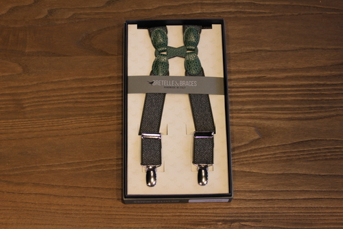 BRETELLE BRACES - OLIVE GREEN