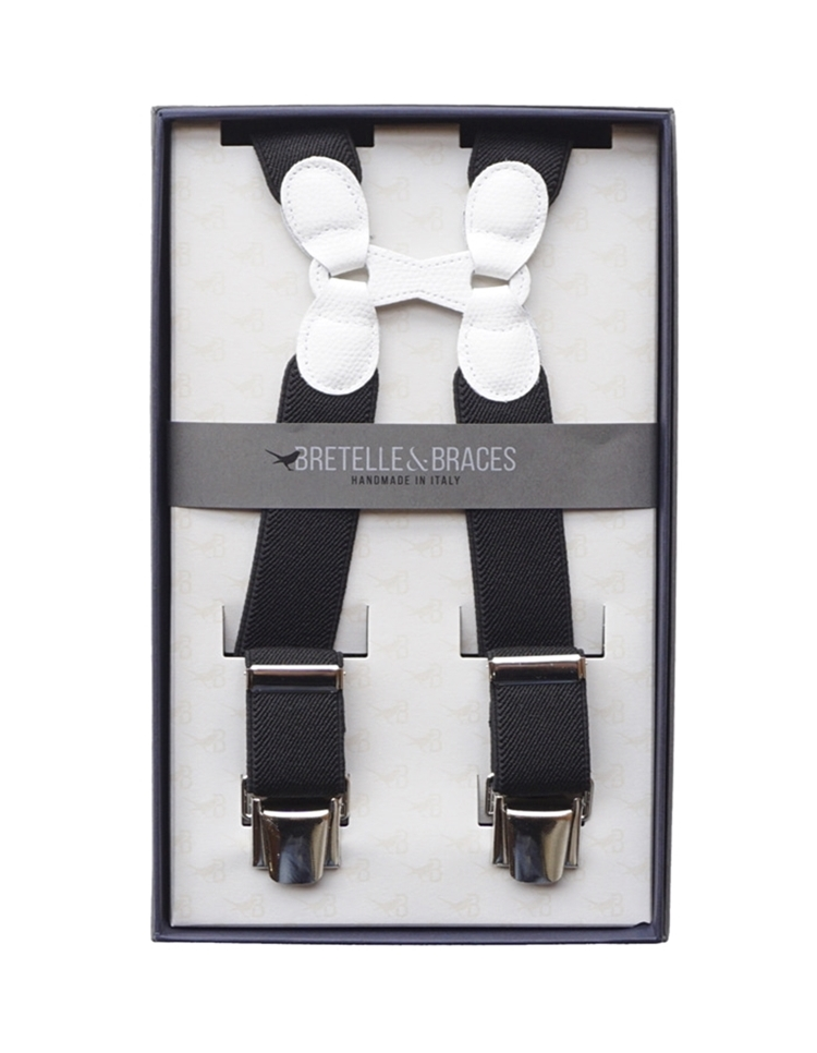 Braces & Bretelle Suspenders(black&white)