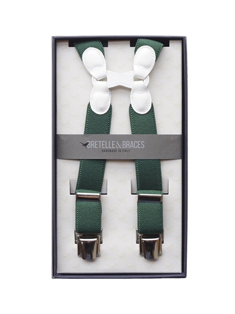 Braces & Bretelle Suspenders(green&white)