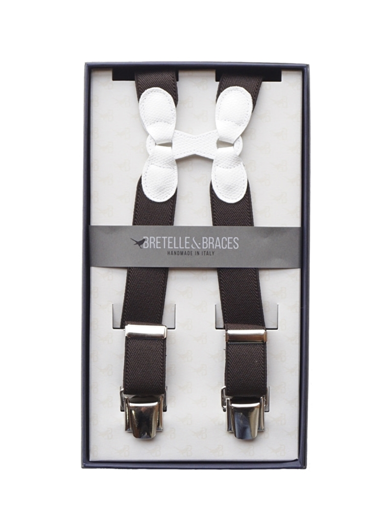 Braces & Bretelle Suspenders(brown&white)