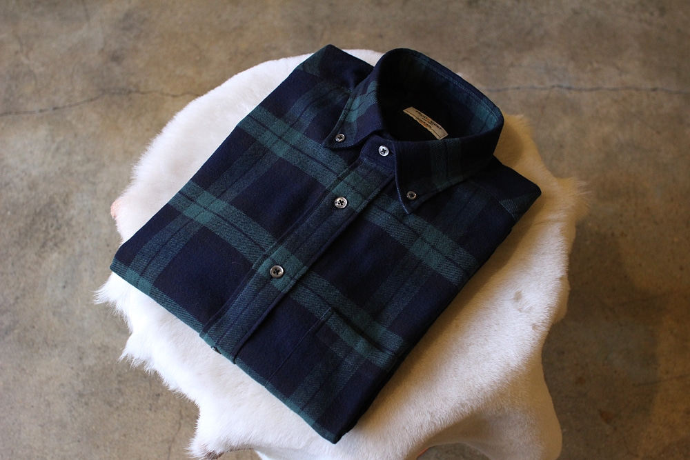 Flannel shirt black watchPRODE SHIRT x TANNERY