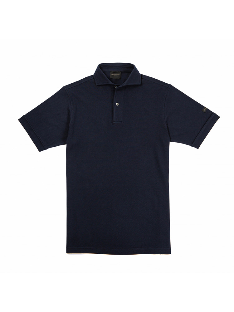 TWO BUTTON WIDE COLLAR POLO NAVYMEMENTOMORI(메멘토모리)