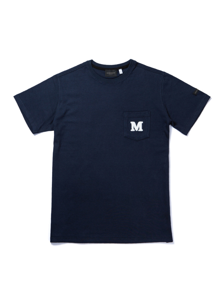MORI SYMBOL POCKET  SHORT SLEEVE T-SHIRTS navyMEMENTOMORI(메멘토모리)