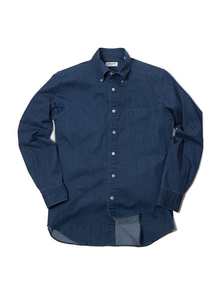Florida Stretch Denim Button Down Collar Shirt (BLUE)PRODE SHIRT(프로드셔츠)