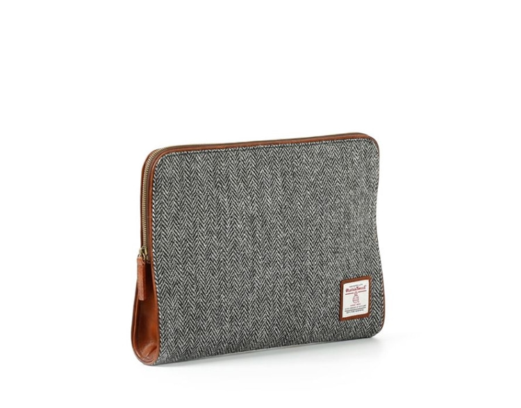 HARRIS TWEED LEATHER CLUTCH GRAYMASCOLANZA(마스콜란자)