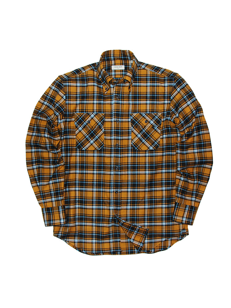 Cross-over Flannel Check Shirt OR PRODE SHIRT(프로드셔츠)