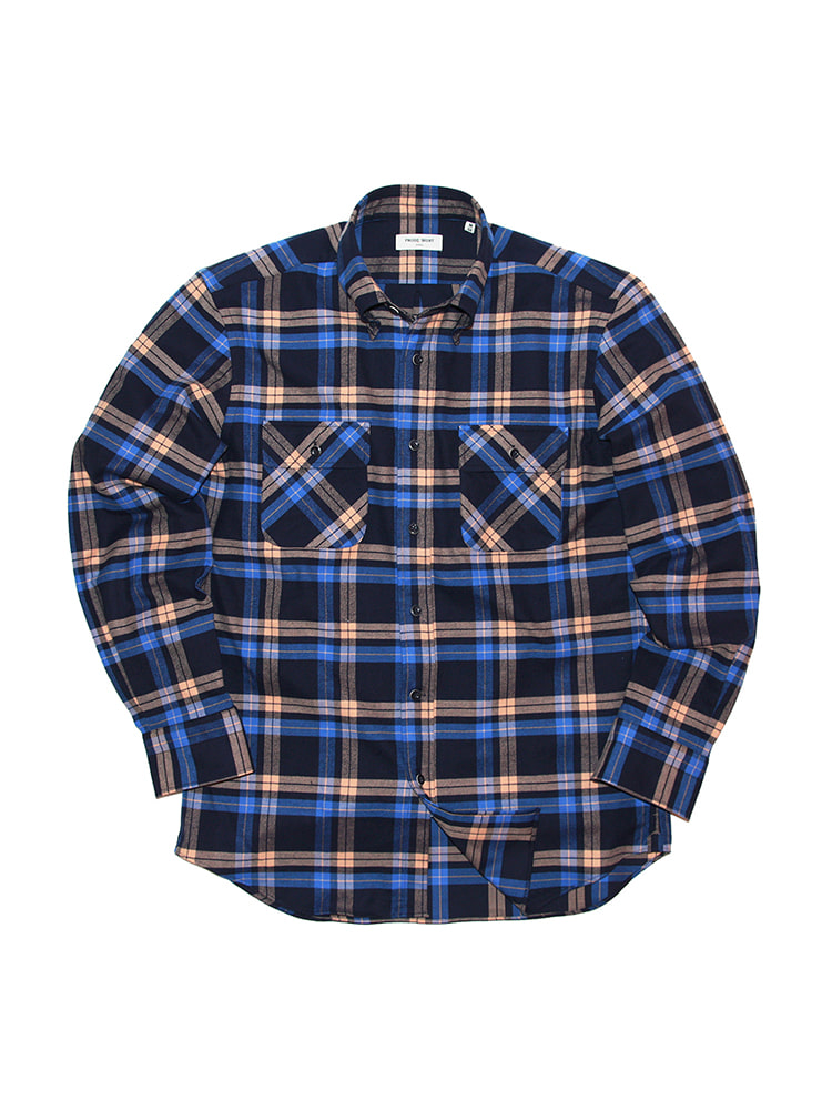 Cross-over Flannel Check Shirt NY PRODE SHIRT(프로드셔츠)