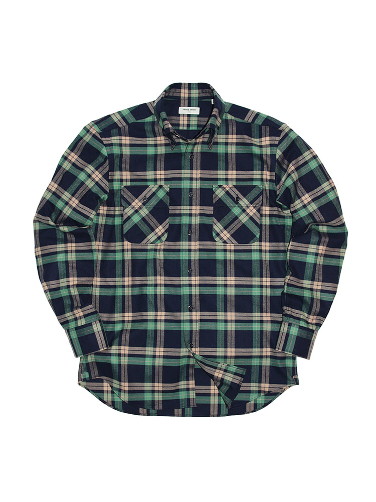 Cross-over Flannel Check Shirt GR PRODE SHIRT(프로드셔츠)