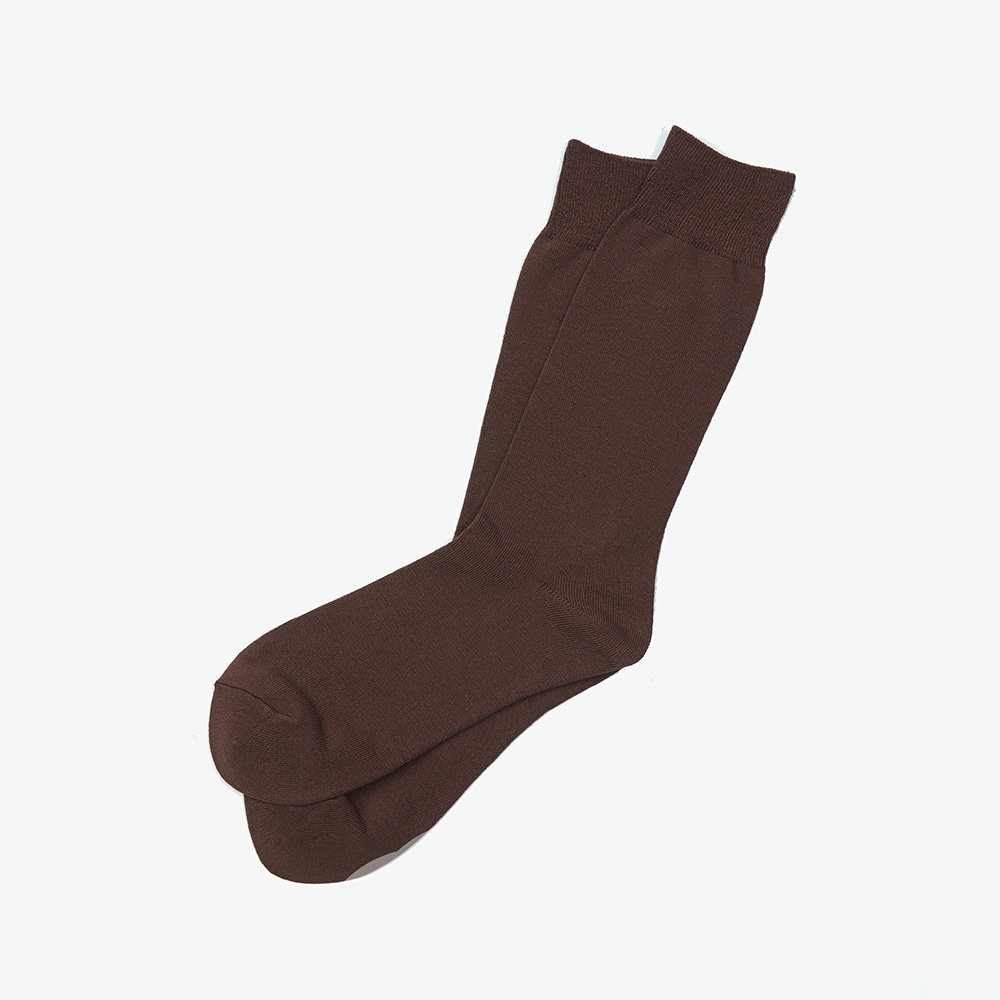 Bamboo Crew Socks - Brown SolidENRICH(인리치)