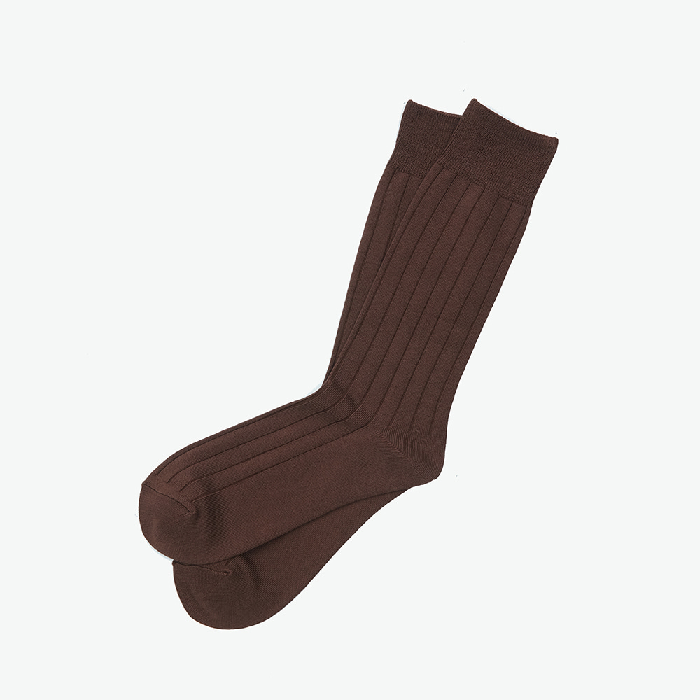 Bamboo Crew Socks - Brown RibENRICH(인리치)