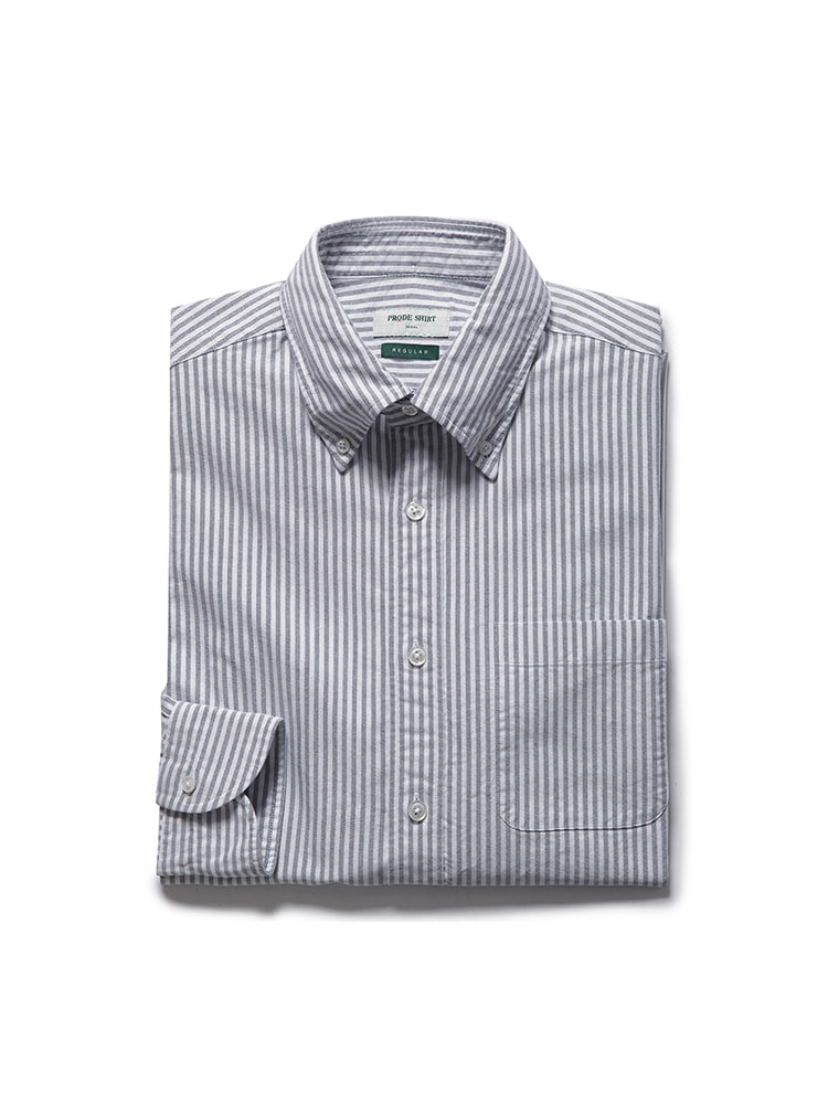D-350 oxford stripe shirt (gray)PRODE SHIRT(프로드셔츠)