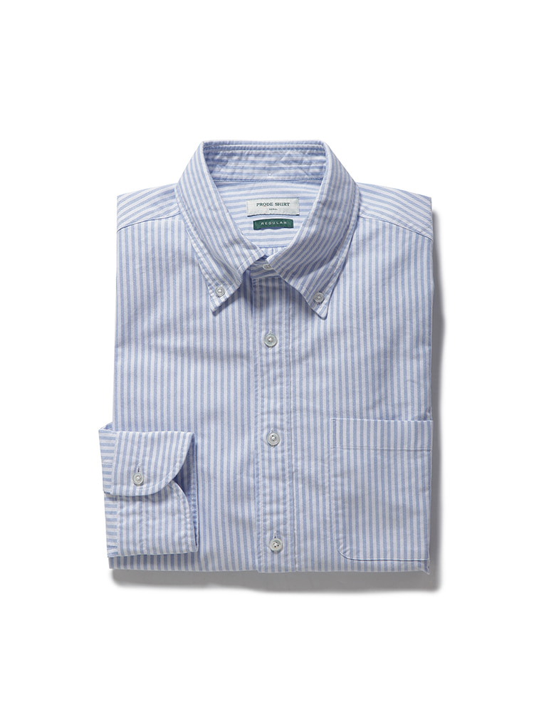 D-350 oxford stripe shirt (blue)PRODE SHIRT(프로드셔츠)