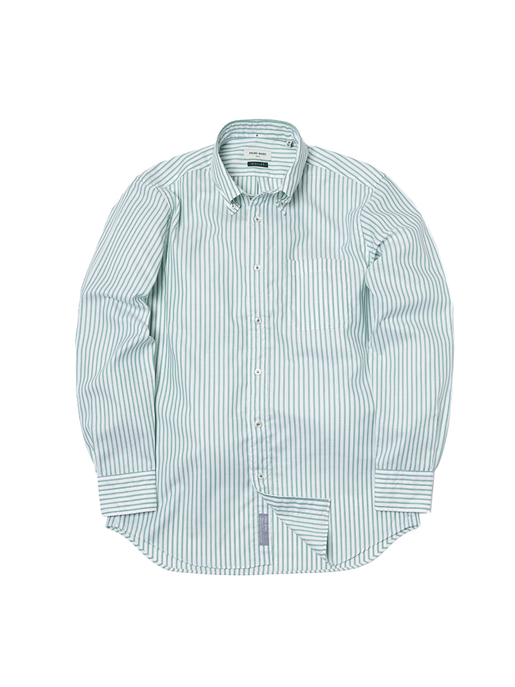 S-350 Oxford Stripe Shirt (Green)PRODE SHIRT(프로드셔츠)