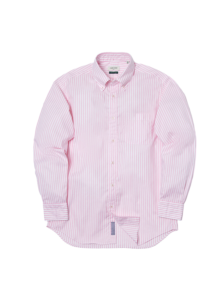 S-350 Oxford Stripe Shirt (Pink)PRODE SHIRT(프로드셔츠)