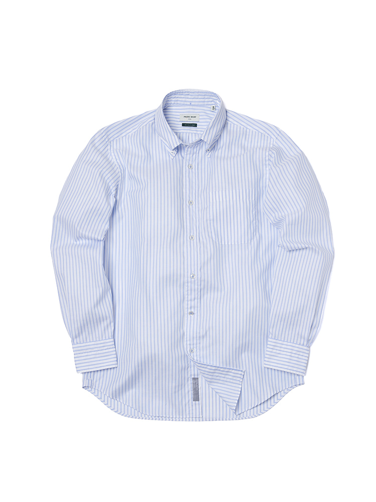 S-350 Oxford Stripe Shirt (Blue)PRODE SHIRT(프로드셔츠)