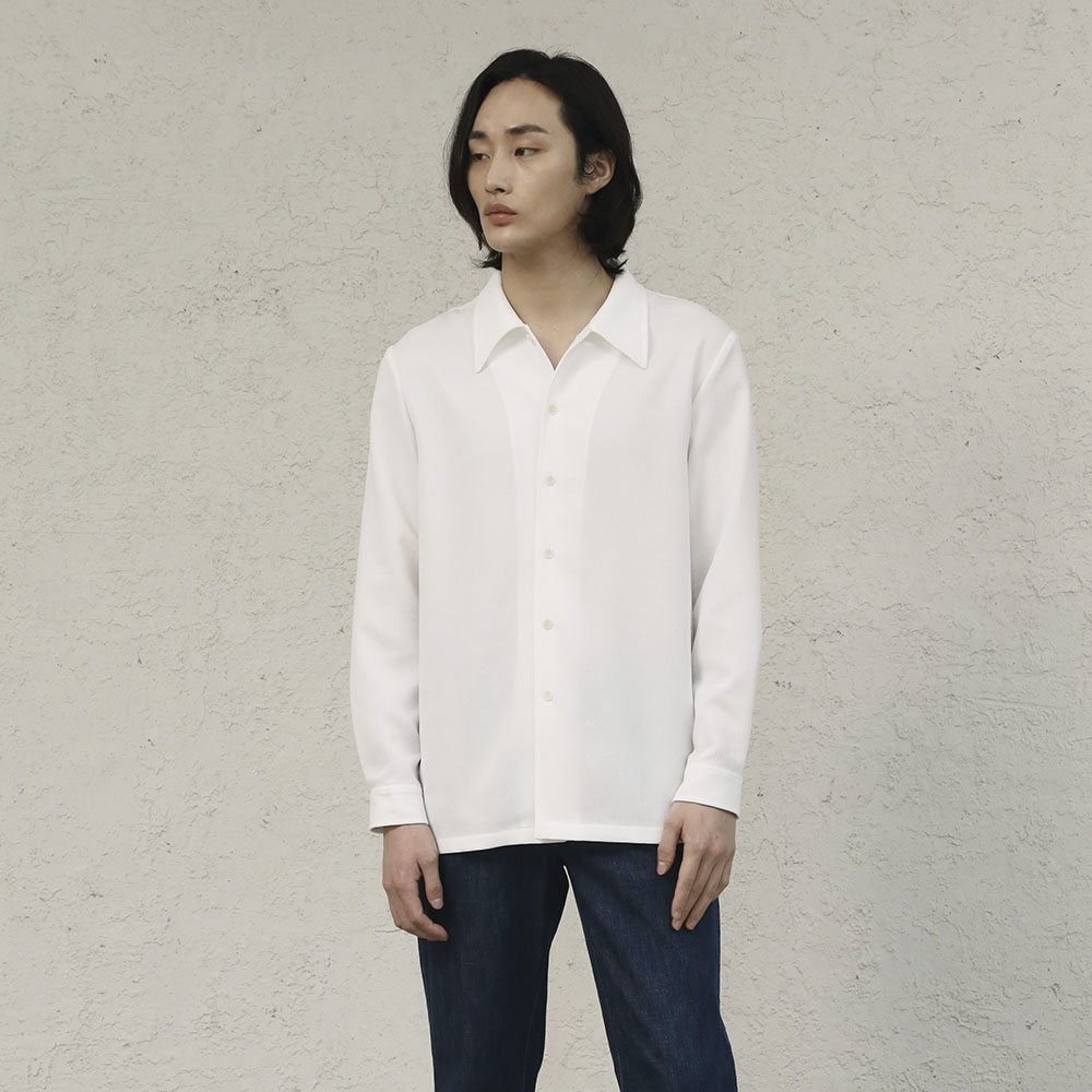 PLEATS SHIRT (Off White)Fill Chic(필시크)