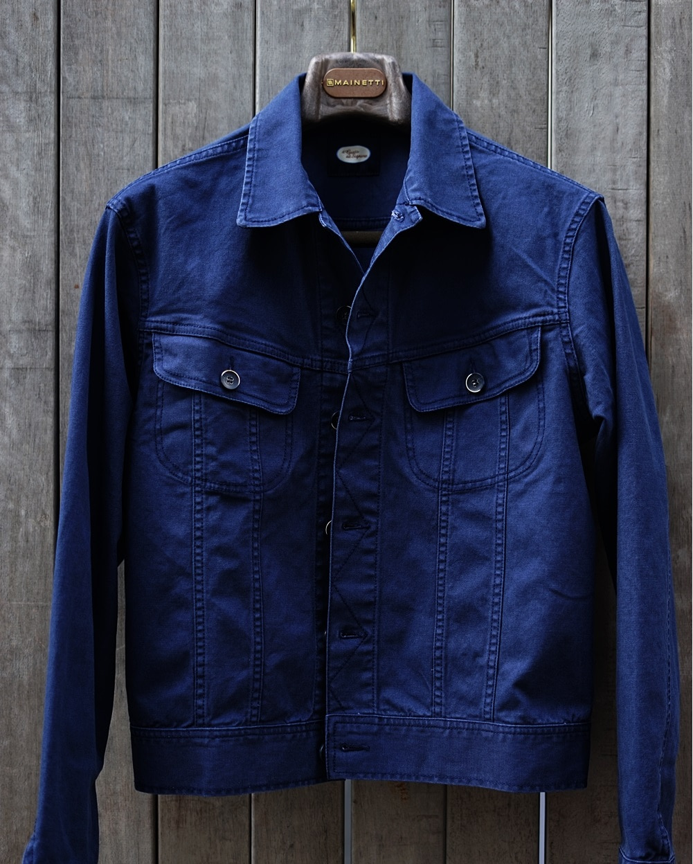 Trucker Jacket Oxford navyIL GUSTO DEL SIGNORE일 구스또 델 시뇨레