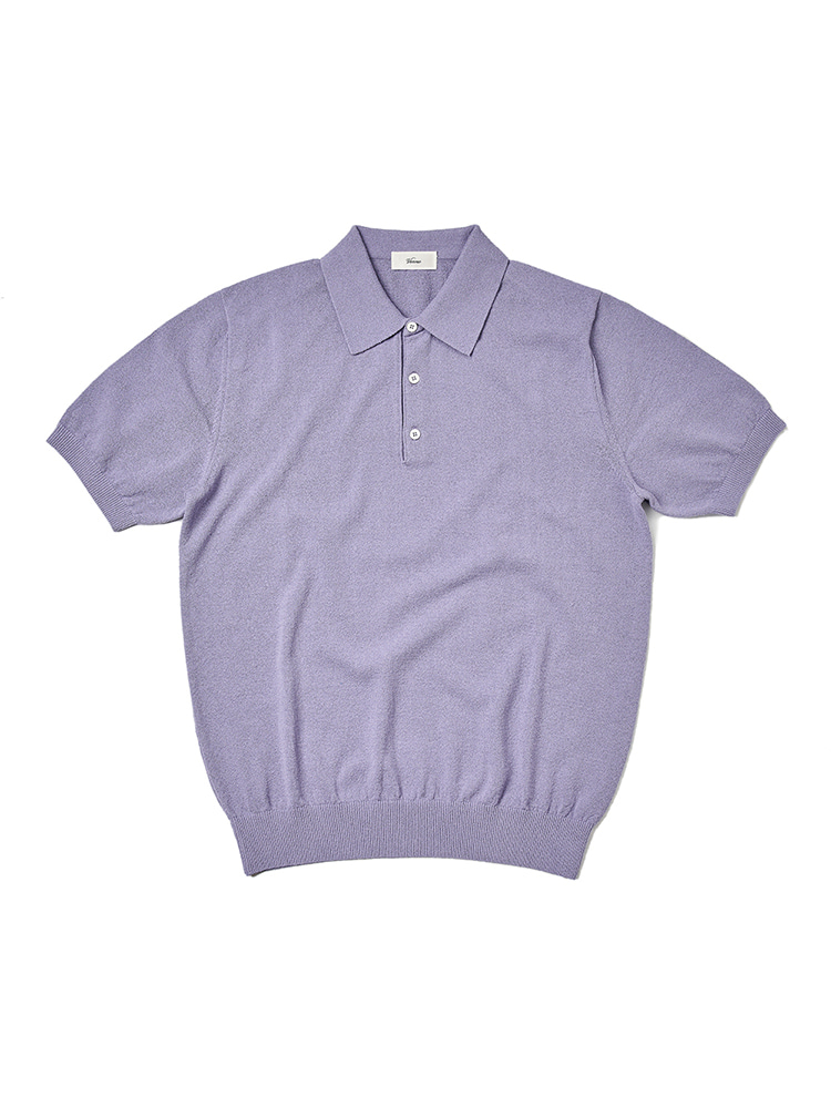 21SS_Polo_knit LavenderVERNO(베르노)
