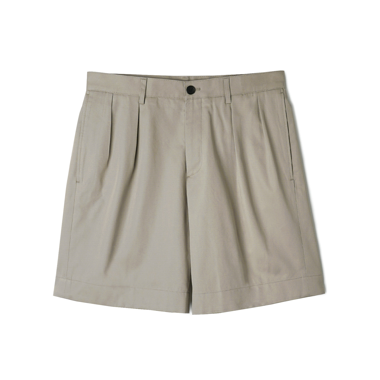 VHS Cotton Twill Chino Two-Tuck Shorts - BeigeBANTS(반츠)