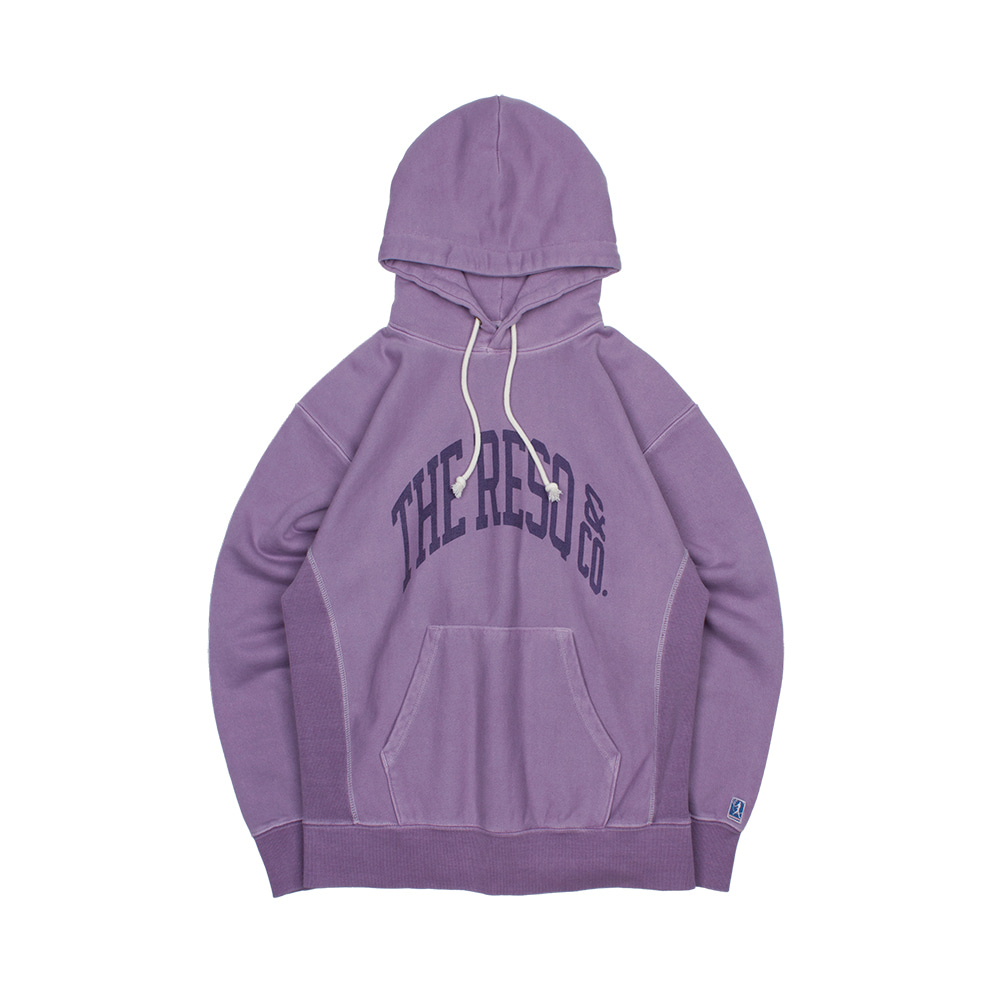 BALLGAME HOODIE(GARMENT DYED) [DIMMED PURPLE]THE RESQ(더레스큐)