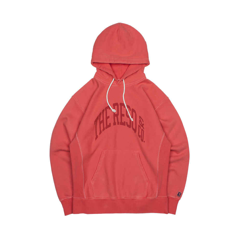 BALLGAME HOODIE(GARMENT DYED) [SUN FADED RED]THE RESQ(더레스큐)