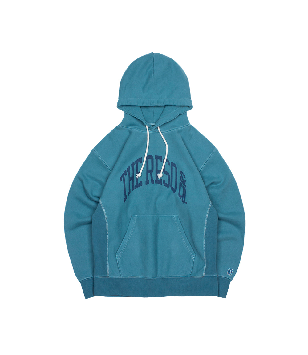 BALLGAME HOODIE(GARMENT DYED) [WASHED OUT BLUE]THE RESQ(더레스큐)