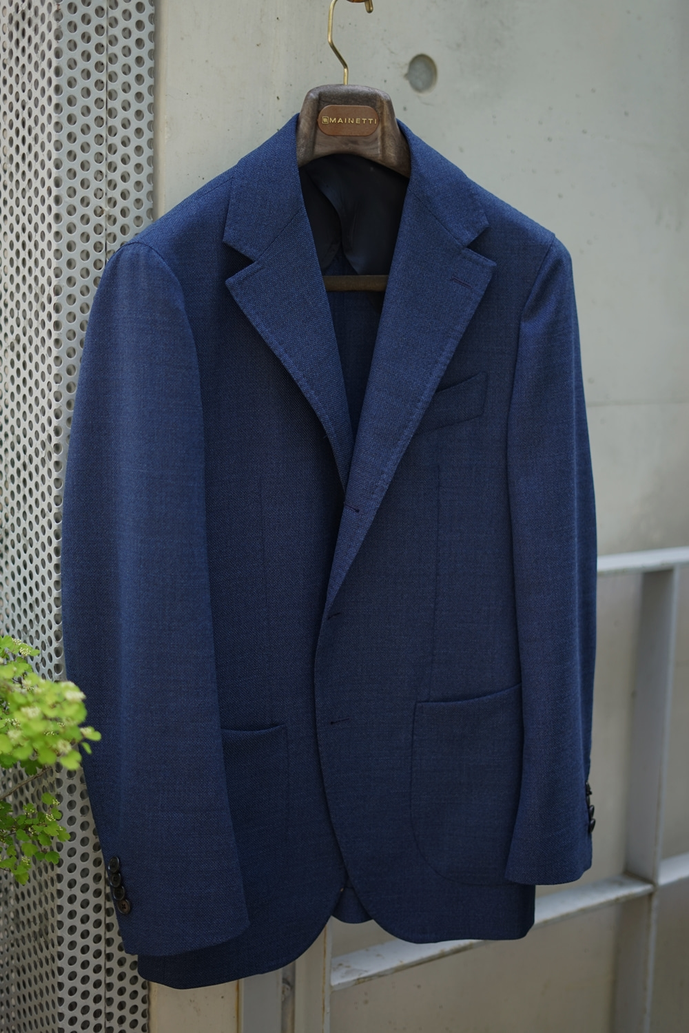 navy blue wool jacketCOMPLETO(꼼플레토)