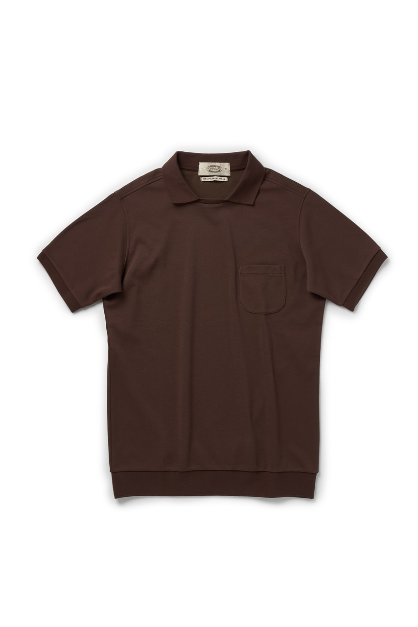 BROWN ROUND POCKET POLO SHIRTAMFEAST(암피스트)